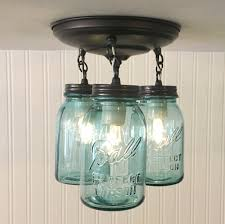 vintage blue jar ceiling lighting fixture trio the l goods