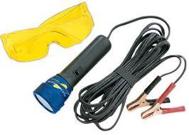 viper leak detector 12v uv light kit with uv enhancing glasses
