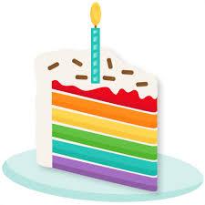 Rainbow clipart birthday cake 1
