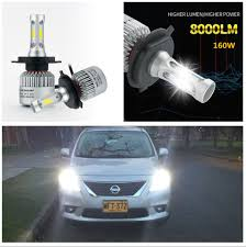 2x h4 car led headlight bulbs two way heat dissipation low high