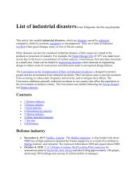 Union Carbide Wikipedia by List Of Industrial Disasters From Wikipedia Doc
