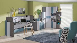 jugendzimmer komplett set a klemens 6 teilig farbe blau weiß grau