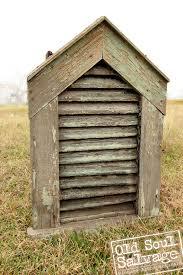 vintage gable vent farm house rustic chippy green paint