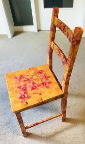 bunte ausgefallene stühle stuhl esszimmer orange blumen
