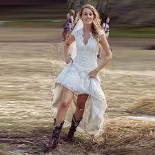 Rustic Wedding Dresses Cap Sleeve Back Button Appliques Vestido De Novia Fashionable Bridal Gowns Hi Low