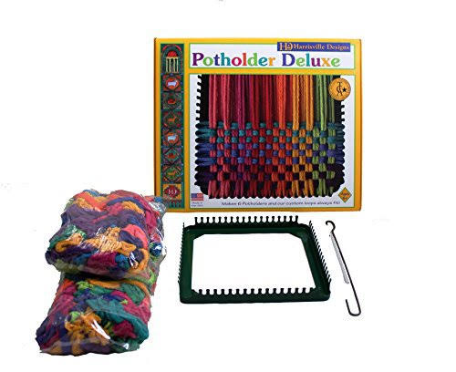 Harrisville Designs Potholder Deluxe Loom Kit - Makes 6 Potholders, 7""
