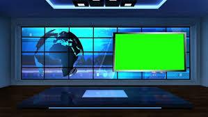 Hd0010News TV Studio Set