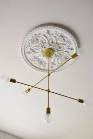 Small Two Piece Ceiling Medallions by Instant Architecture The Best Ceiling Medallions Apartment Therapy