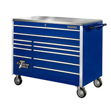 Extreme Tools 24 In. 4-Drawer 2-Shelf Professional Side Chest In ...