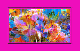Summer Abstract Orange Art Blue Nature Aqua Pink Flowers Beautiful Painting Purple Flower Ipad Wallpapers Detail