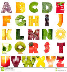 Fruit Ve able Alphabet Stock 419 s
