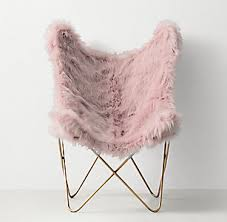 Tye Kashmir Faux Fur Butterfly Chair