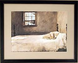 Amazoncom Big Framed Andrew Wyeth Master Bedroom Dog On Bed