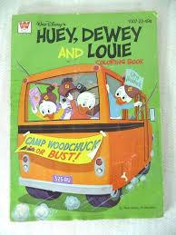 Vintage Walt Disney Huey Dewey And Louie Coloring Book 1976 Unused Whitman Hamptoncollect