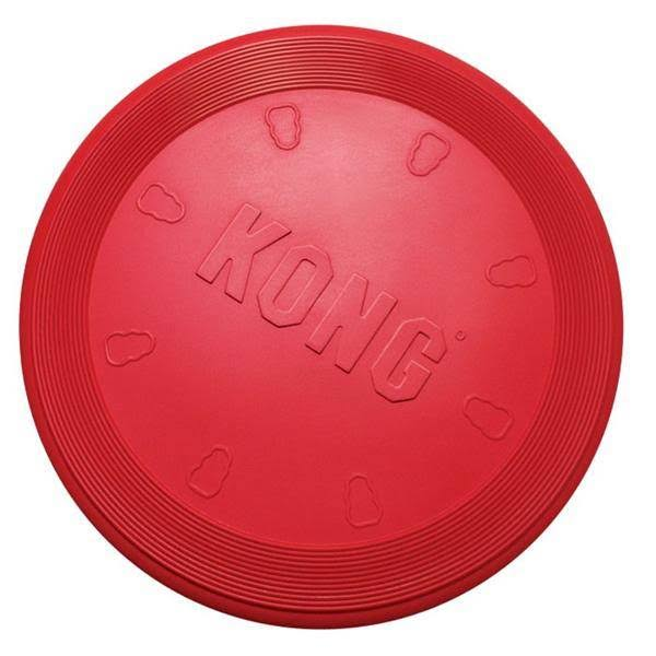 Kong Rubber Flyer Dog Toy - Small, Red