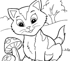 Kittens Coloring Pages Free Printable Kitten For Kids Best Draw