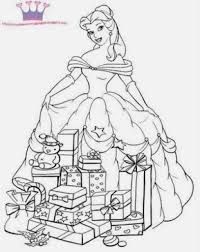 Christmas Coloring Pages Disney Princess Inc Throughout