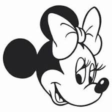 Mini Mouse Head Colouring Pages