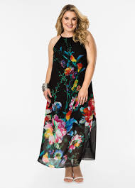 size black halter dress ashley stewart