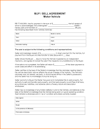 Auto Sales Contract Template Masir