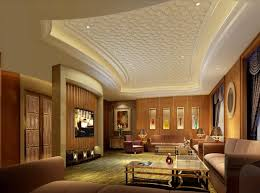 Living Room Ceiling Design Luxury Pattern Gypsum Board For Modern Style