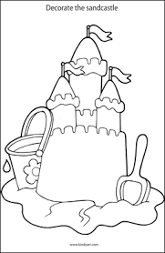 255x390 Decorate The Sandcastle Colouring Page Oceans Pinterest