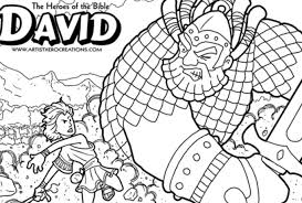 Bible Heroes Coloring Pages David And Goliath