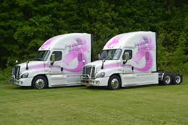 100 Leonard Truck S Express Trucks Emblazoned With Pink Ribbons To Support