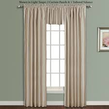 Linden Street Blackout Curtains by Annaleigh Faux Silk Waterfall Window Treatment