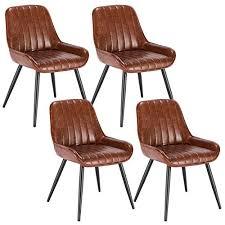 lestarain 4 stücke esszimmerstuhl retro küchenstuhl wohnzimmerstuhl sitzfläche aus pu retrostuhl mit metallbeine besucherstuhl stuhl für esszimmer