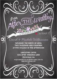 Wonderful After Destination Wedding Reception Invitations