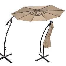 11 foot patio umbrella with solar lights home outdoor decoration