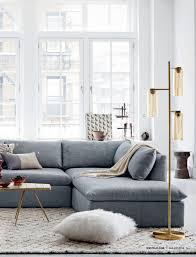 Sectional Living Room Ideas by West Elm Shelter Sectional Insides Outsides Pinterest