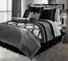 Black And Silver Duvet Set By Lawrence Home