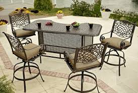 Impressive Outdoor Patio Bar Table And Chairs Home Design Intended