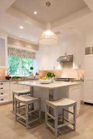 Love The Pretty White Kitchen Island In This Bright Modern