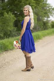 Country Blue Wedding Guest Dresses