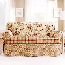 sure fit lexington t cushion sofa slipcover red walmart com