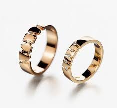 His and hers wedding rings Matching wedding bands by KorusDesign