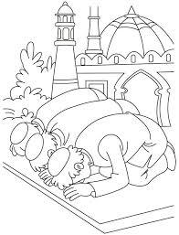 New Muslim Kids Eid Coloring Page