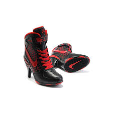womens air jordan retro 12 high heels black red shoes padder