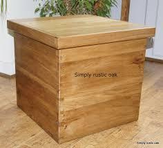 Rustic Oak Storage Box Coffee Table