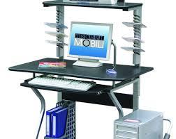 Techni Mobili Desk W Retractable Table by Terrific Photograph Of Dark Glass Desk Awesome Front Desk