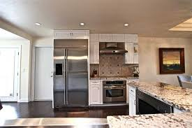 White Kitchen With Stainless Appliances Fascinating Of Steel Granite Countertops