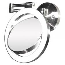 wall mount magnifying mirror with lighted 58 on bedside light