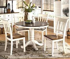 Round Dining Room Tables With Leaves Table Set Leaf White Kitchen