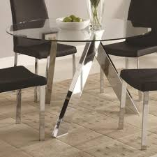 Dining Room Magnificent Decorating Ideas Using Rectangular Black Fabric Stacking Chairs And Round Silver Glass
