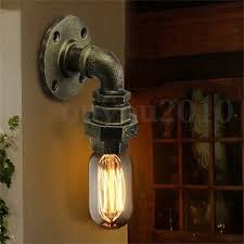 e27 edison retro vintage loft rustic wall light sconce l bulb