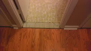 Laminate Floor Transitions Doorway by Laminate Flooring Threshold Gap