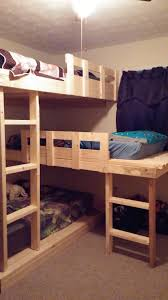 Bunk Bed Plans Pdf by Ana White Triple Bunk Beds Diy Projects